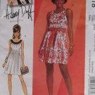 McCalls M5618 Hilary Duff Dress Lined with Belt Pattern, Sz 12-18 UNCUT