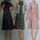 Vintage 1972 Misses Dress and Jacket Simplicity 5407 Sewing Pattern,  Sz 12, Uncut