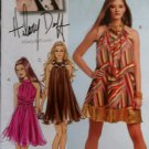 McCalls M5848 Pattern, Hilary Duff Misses Lined Dress & Sash, Sz 4-10 UNCUT