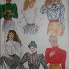 80s Misses' Ruffle Blouse McCalls 8085 Pattern, Size 12, Uncut