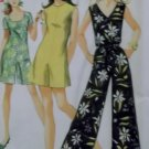 Vintage 1969 Misses Pantsuit in 2 lengths Simplicity 8146 Sewing Pattern,  Sz 12, Uncut