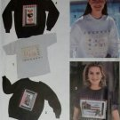 OOP Simplicity 7793 Misses Sweatshirts with appliques, quilting & glitz, Sz 6 to 16, Uncut