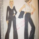 1970s Jacket, Blouse, and Pants Carefree 4342 McCalls Pattern, Size 12 Bust 34