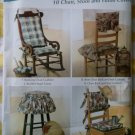 Easy Chair Cushions and Covers Simplicity 0736 Pattern , Uncut