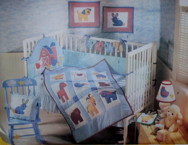 Barn Yard baby's Room Butterick 5060 Pattern, Uncut