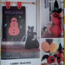 OOP Chris Malone Designs Felt Halloween decorations Simplicity 9921 Crafts Pattern, UNCUT
