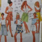 Misses Flared Shorts Split Skirt Culottes Two Lengths Simplicity 7737 Pattern, Sz 6 8 10 12