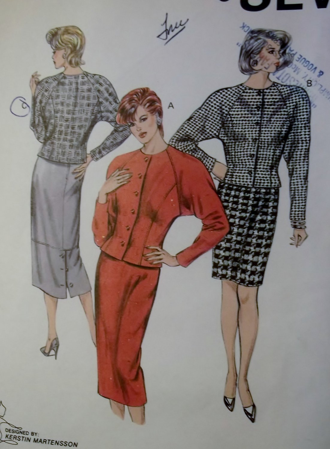 Kwik Sew Pattern 1536, Misses Skirt and Top, Size 6, 8, 10, 12