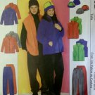 Easy McCalls 3402 Pattern, Misses, Men's Teen Boys' Jacket, Vest, Pants, Hat, Sz SM-LG, UNCUT