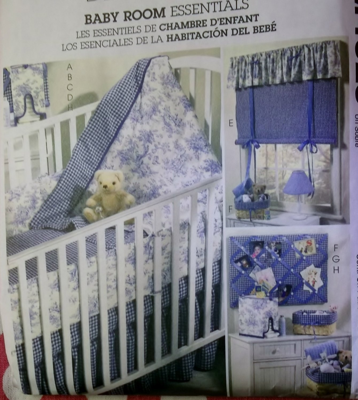 Baby Room Essentials, McCalls M4328 Pattern, Uncut