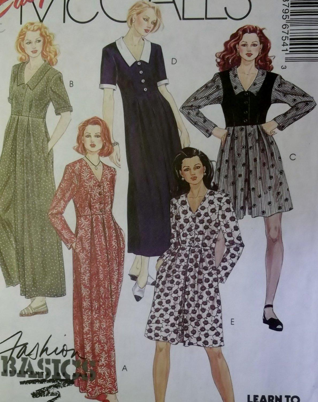 Easy Misses Jumpsuit and Dress 2 lengths McCalls 6754 Pattern Size 4 6, UNCUT