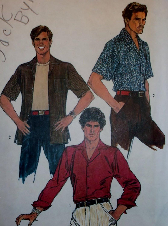 Simplicity 6630 Men's Casual Shirt Pattern, Sz 16, Chest 42, Uncut