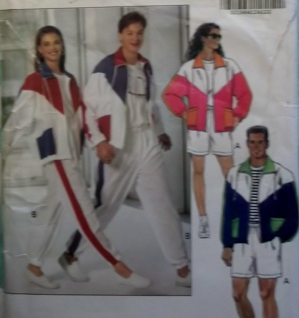 Easy Unisex Mens Misses Workout Jacket Shorts Pants Butterick 5922 Pattern, Sz XS To M, Uncut
