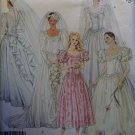 McCalls 3490 Bridal Gown Wedding Dress Bridesmaids Sewing Pattern, Sz 6 8 10, Uncut