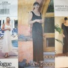 Easy Anne Klein Designer  Dress  Vogue 1376 Pattern, Size 6, 8, 10, Bust 30.5, 31.5, 32.5. Uncut