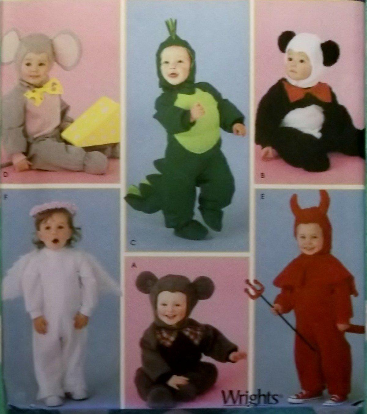 Simplicity 4002 Pattern, Toddler Dragon Monkey Angel Panda Bear Devil Costume , Sz  ½ to 4,  UNCUT