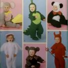 Simplicity 4002 Pattern, Toddler Dragon Monkey Angel Panda Bear Devil Costume , Sz  ½ to 4,  UNCUT