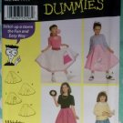 Simplicity 9924 Girls Felt Circle Skirt Costume Sewing Pattern, Size 3 4 5 6, Uncut