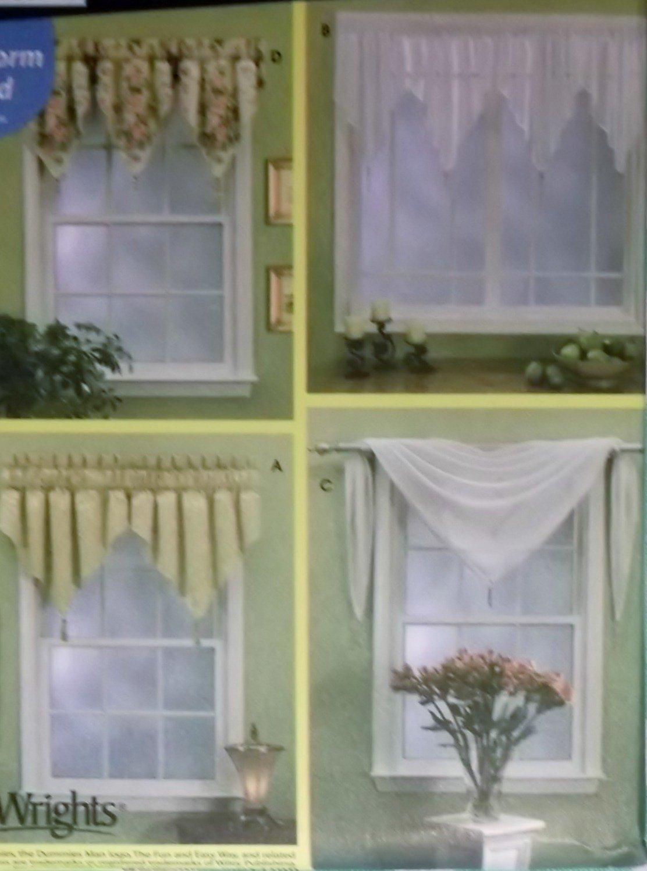 Easy Window Treatments Valances Simplicity Patterns 7164, All Sizes, Uncut