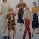 Easy McCall's 3096 Vintage 1987 Top Skirt Pants Shorts Pattern,  Half size 18 1/2, Uncut