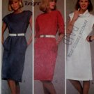 Easy Jones New York Design Dress McCalls 9080 Pattern,  Sz LG, UNCUT