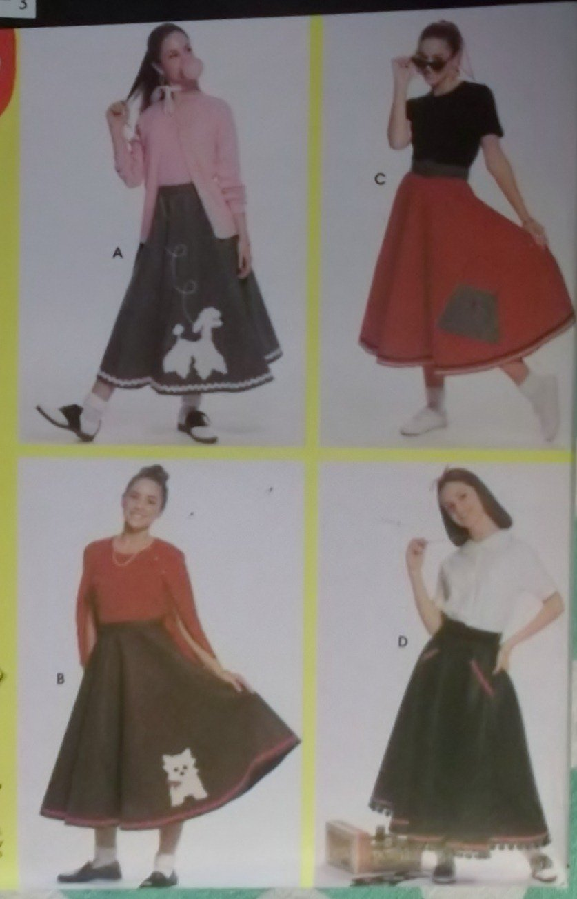 Simplicity Patterns for Dummies 9926 Pattern Teens Circle Poodle Skirt Costume, all Szes,  Uncut