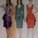 Butterick b 5811 Sewing Pattern, Misses' Dress and Peplum, Size 14-16-18-20-22, UNCUT