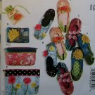 Butterick B6715 Slippers, Jewelry Pouch, Zipper Bags and Jewelry Case Sewing Pattern, Uncut