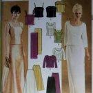 McCalls 3436 Pattern, Evening Elegance Misses' or Petite Top Skirt Stole, Size 6, 8, 10, UNCUT