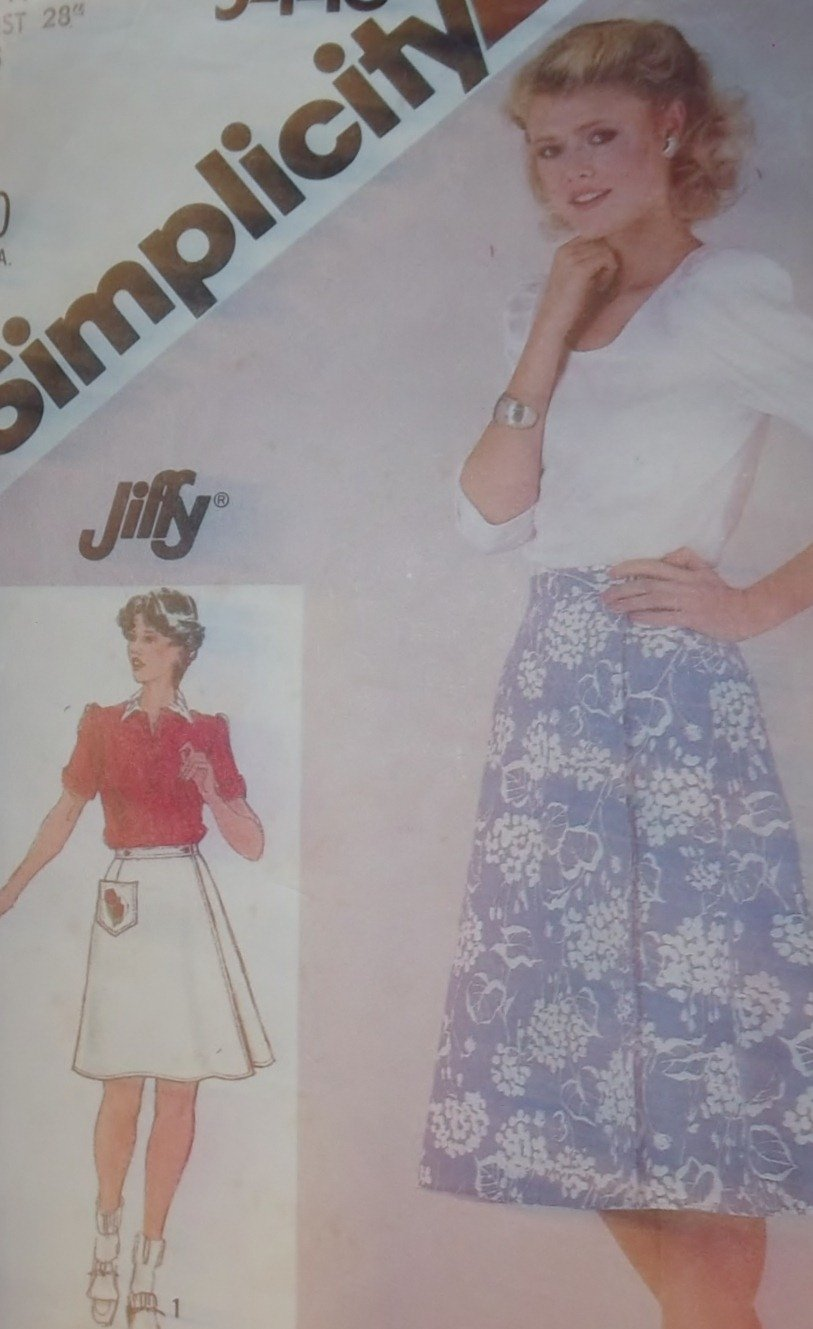 Simplicity 5446 Misses Jiffy reversible skirt in two lengths Pattern, Size 14, Uncut