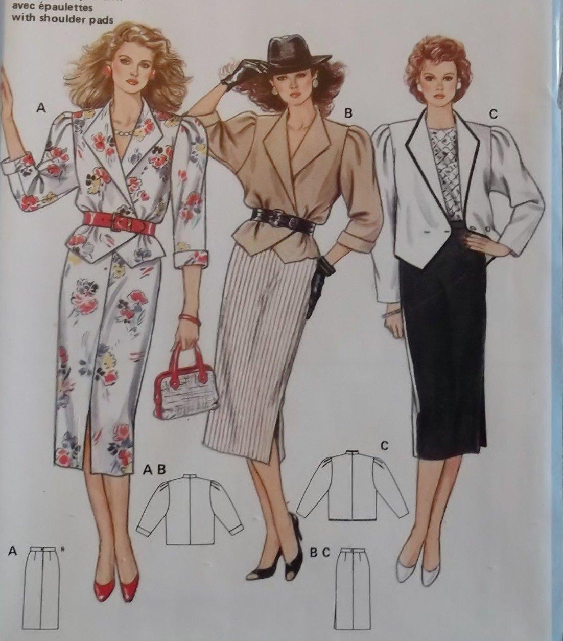 Burda 6399 Sewing Pattern Misses Jacket Skirt ,  Plus Size 8 10 12 14 16 18 20, Sealed