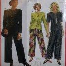 Burda 5206 Sewing Pattern Misses Jacket Pants,  Plus Size 10 12 14 16 18 20, Uncut