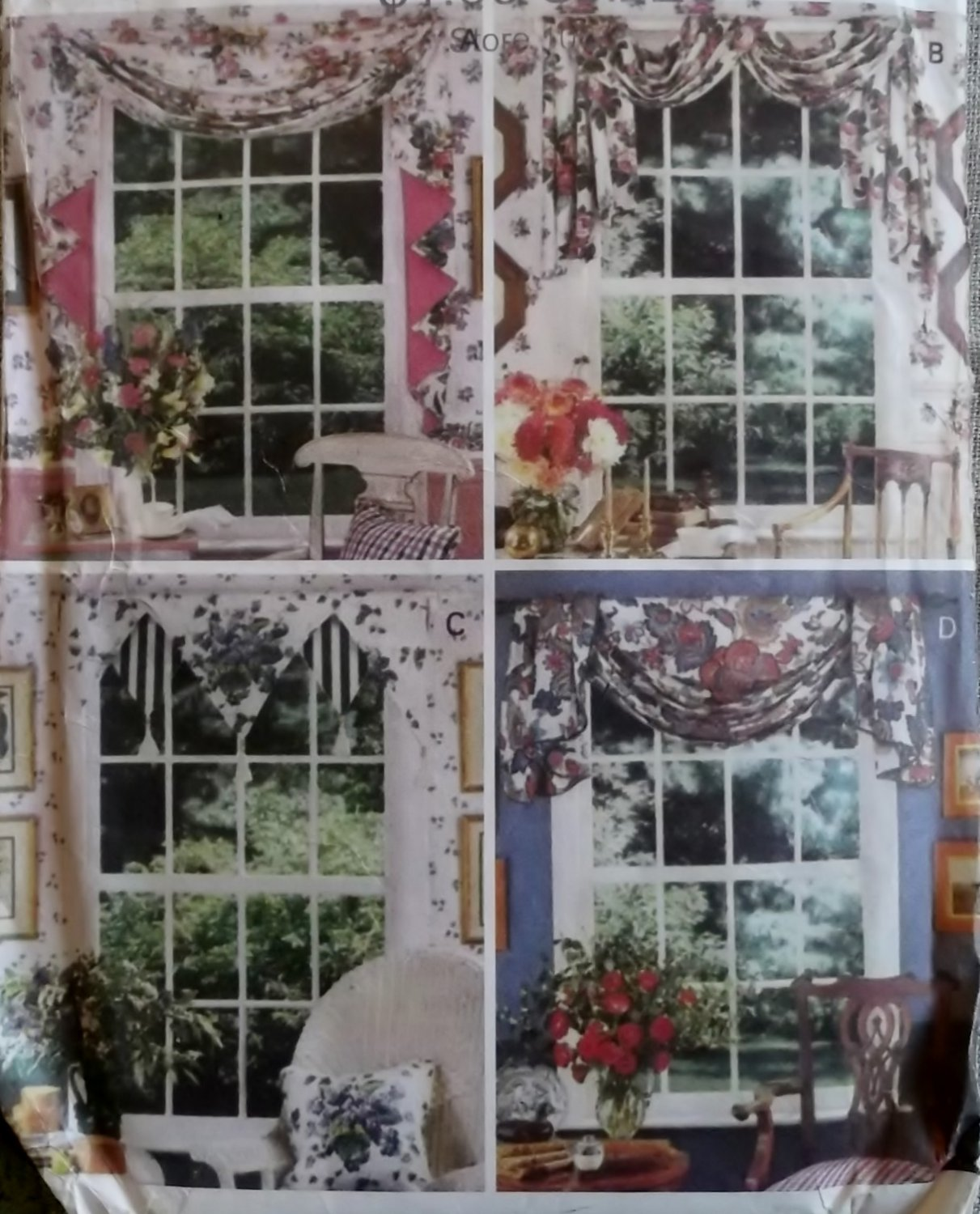 Easy Waverly Window Scarves Home Decor Butterick 3395 Pattern, Uncut