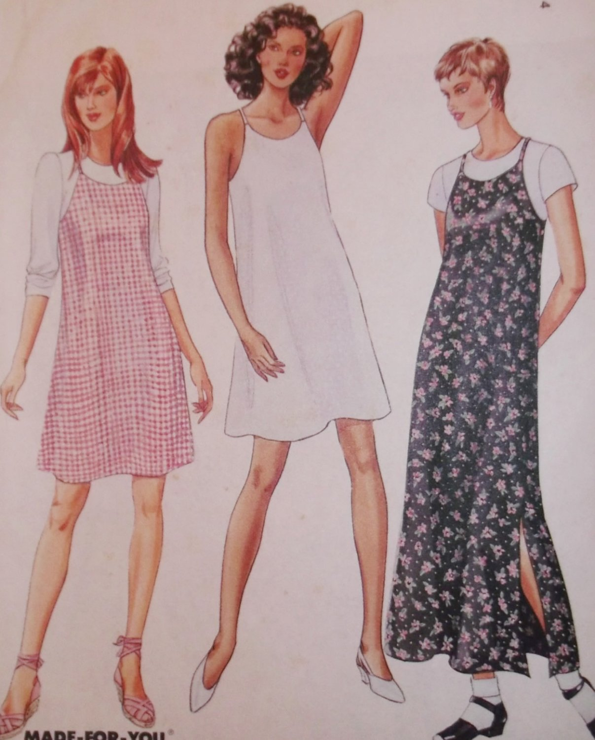Easy Misses Pullover Dress McCalls 7726 Sewing Pattern, Size 8 10 12, Uncut