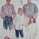OOP Easy McCalls 6940 Unisex Shirt Pattern,  Plus size X L XXL, 42 to 48,  Uncut