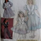 Simplicity 7698 Daisy Kingdom Girls Dress and Romper Pattern, Size 6 7 8, Uncut