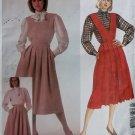 McCalls 2103 Misses Skirt Bib and Blouse Pattern,  Size 8, UNCUT