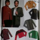 Misses lined jacket in 2 lengths trim variations Simplicity 9875 Pattern, Plus Sz 16 to 24, Uncut