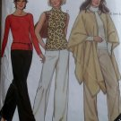 Misses Top Pants & Cape New Look 6008 Sewing Pattern , Sz 10 to 22,