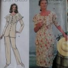 Simplicity 9442 Pattern Misses or Petite Pants Skirt and Ruffled Blouse, Sz 12 14 16  UNCUT
