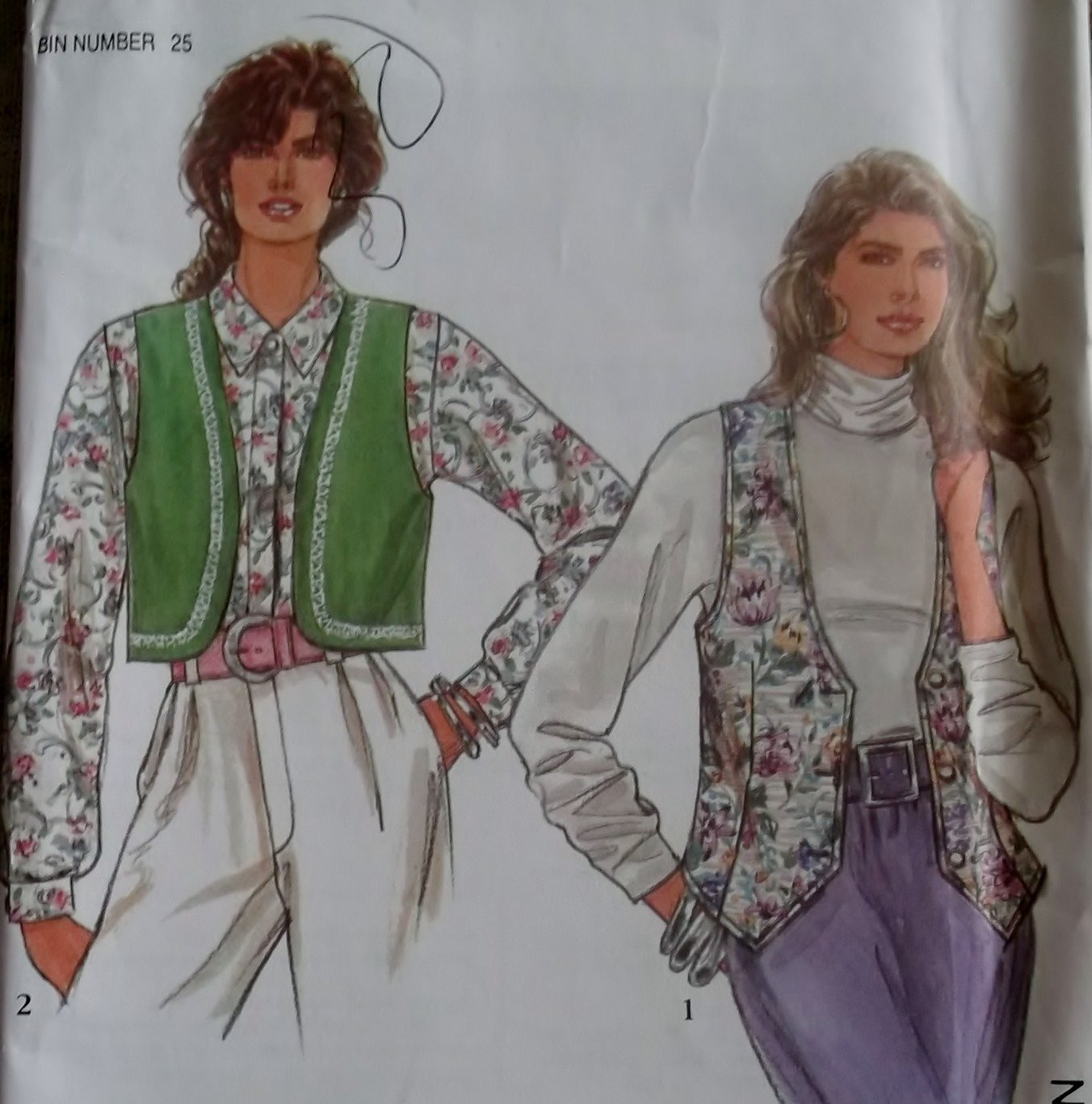 Misses'  lined Vest Simplicity 7985 Pattern, Sz Pt To XL, Uncut