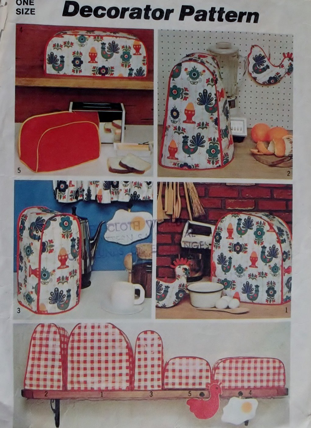 Country Kitchen Appliance Covers
