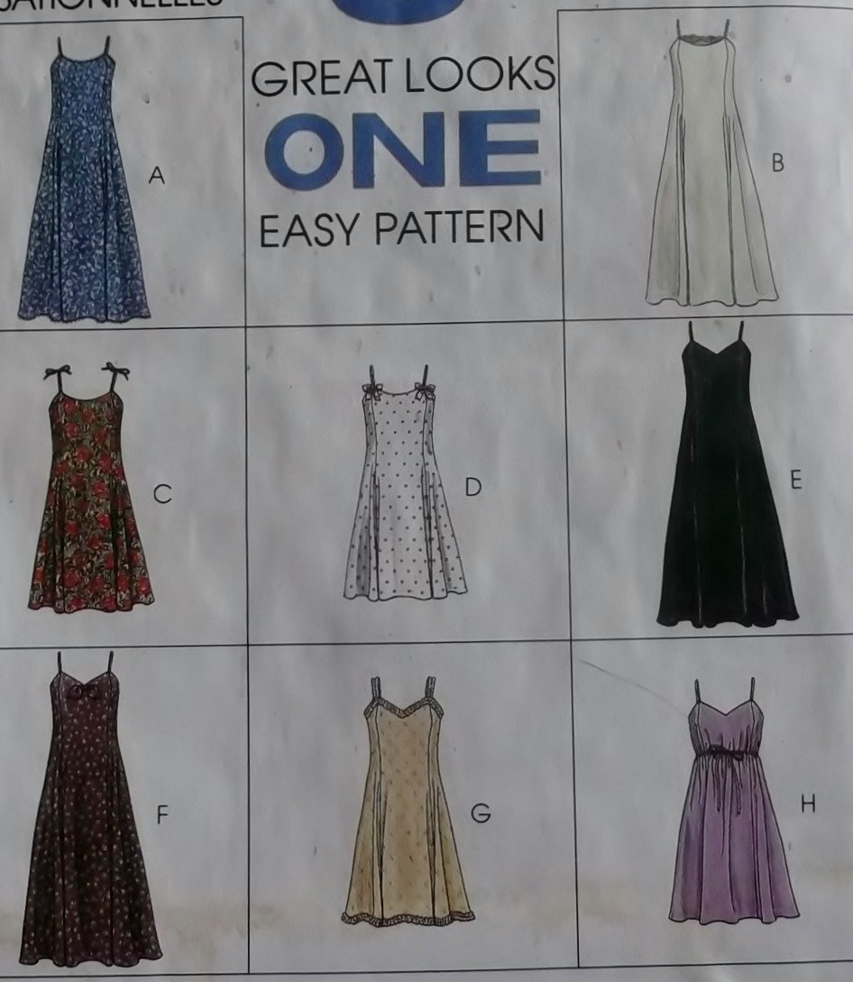 Easy Misses Princess Dress in two lengths McCalls 7515 Sewing Pattern, Size 8 10 12, Uncut