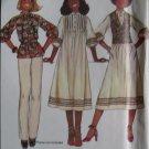 McCalls 6034 Annie, too! Misses Dress or Top & Vest Pattern,  Size 8, UNCUT