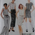 Easy Misses Top Sarong Pull on Pants Shorts McCalls 7677 Pattern, Size 10 12 14, Uncut