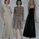 Misses' Dress in two lengths & unlined Jacket McCalls 8297 Sewing Pattern, Size 12 14 16, Uncut