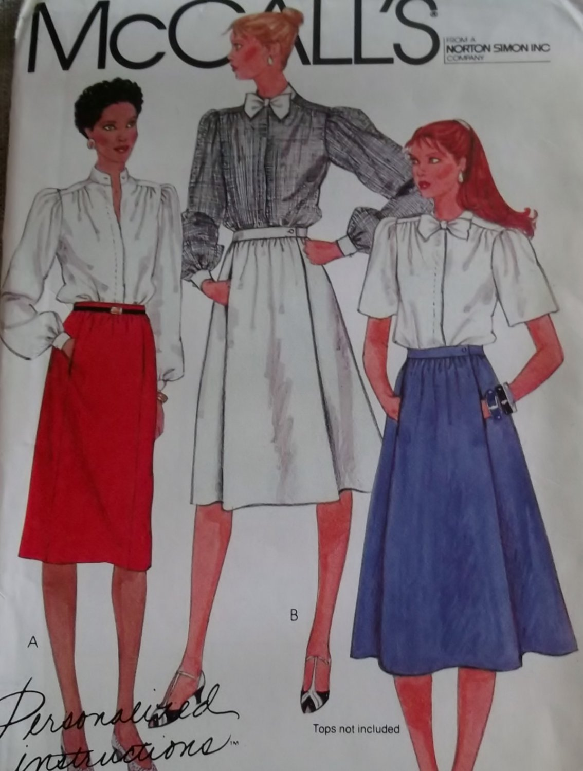 Vintage McCall's 8461 Misses Slim and Flared Skirts, Size 12, Uncut