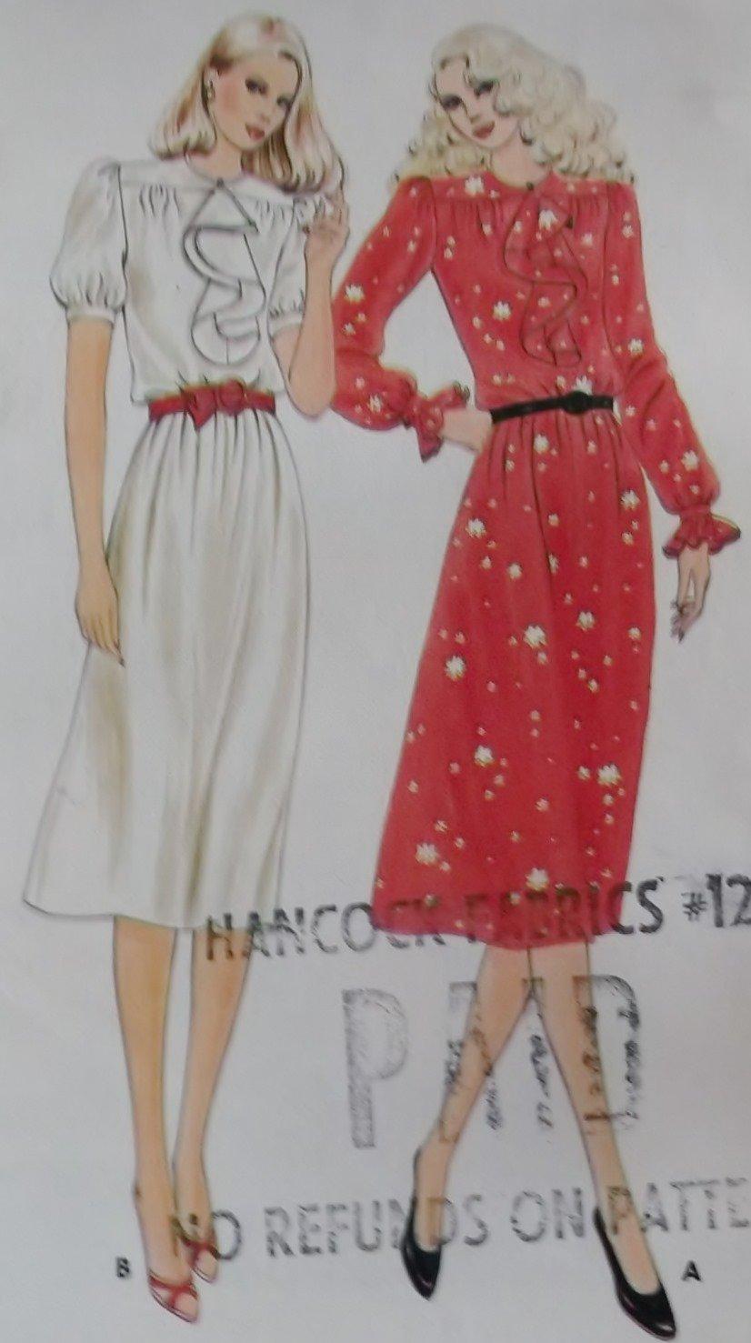 Vintage Misses Dress Butterick 3354 Sewing Pattern, Size 8, UNCUT