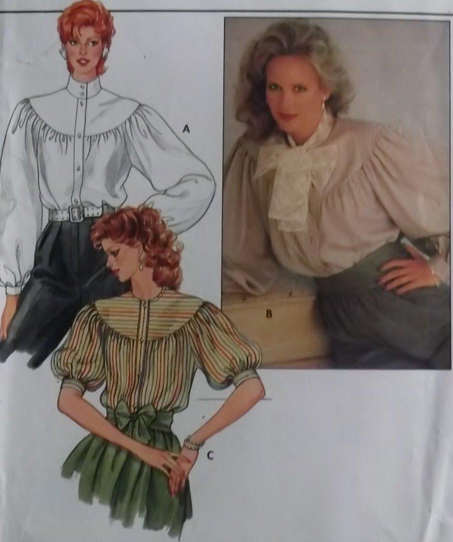 Misses Blouse Butterick 4752 Pattern, Size 8 10 12, UNCUT