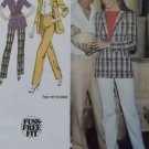 Misses' straight leg Pants & unlined Jacket Simplicity 9406 Pattern, Size 12, Uncut